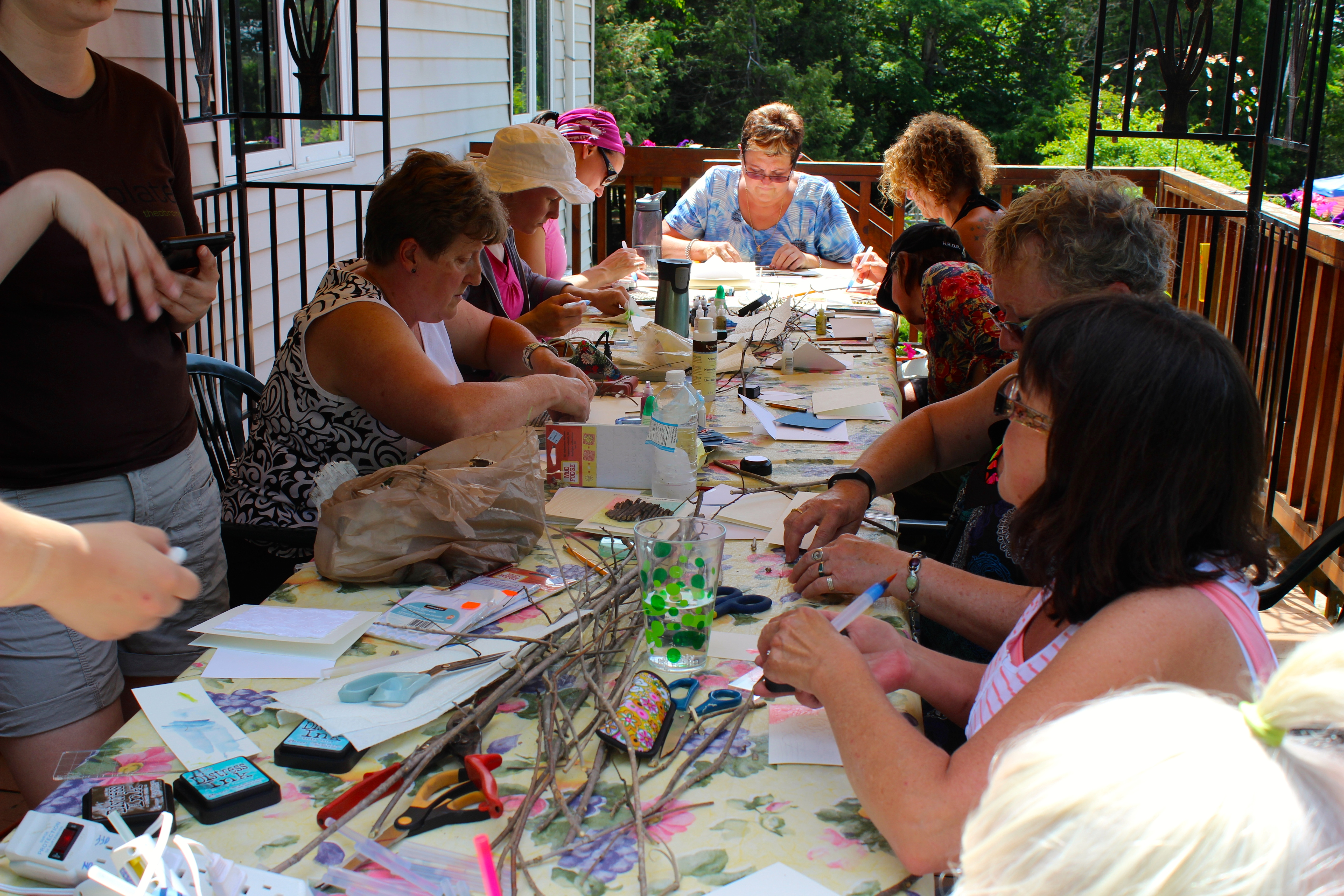 Crafts at the Women's Outdoor Weekend at Gordon's Park on Manitoulin Island