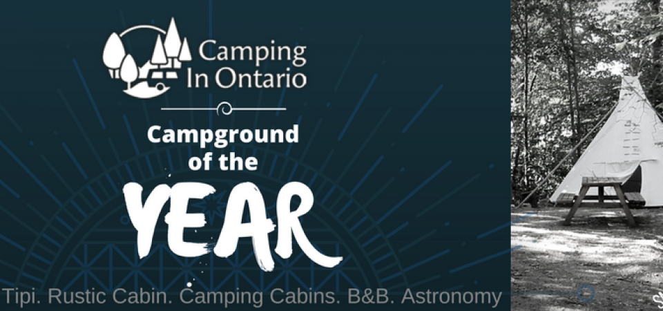 Campground of the year award for Gordon's Park on Manitoulin Island